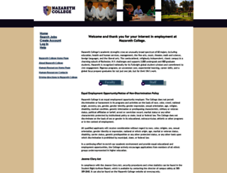 jobs.naz.edu screenshot