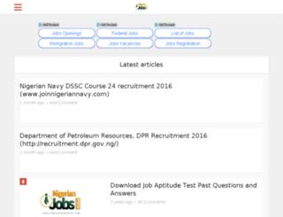 jobs.nigeriannewsportal.com screenshot