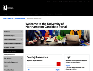 jobs.northampton.ac.uk screenshot
