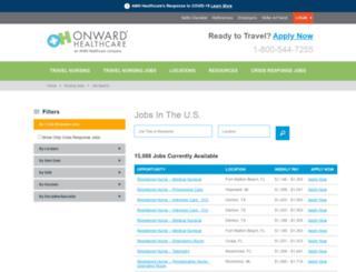 jobs.onwardhealthcare.com screenshot