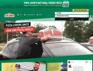jobs.papajohns.com screenshot