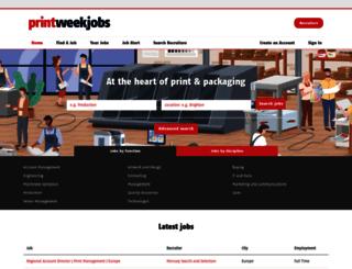 jobs.printweek.com screenshot