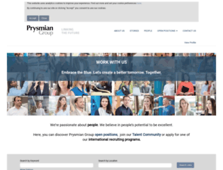 jobs.prysmian.com screenshot