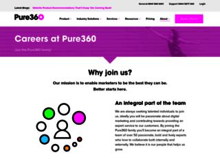 jobs.pure360.com screenshot