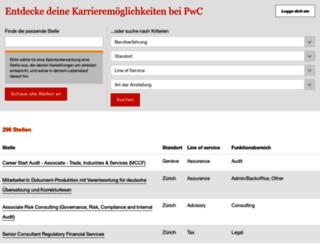jobs.pwc.ch screenshot