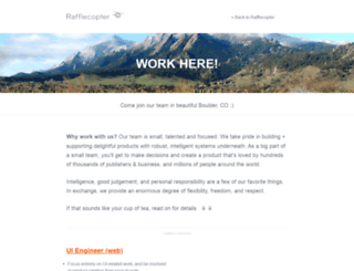 jobs.rafflecopter.com screenshot