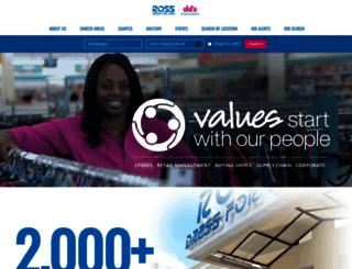 jobs.rossstores.com screenshot