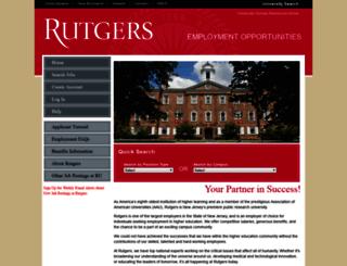 jobs.rutgers.edu screenshot