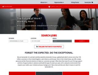jobs.santanderbank.com screenshot