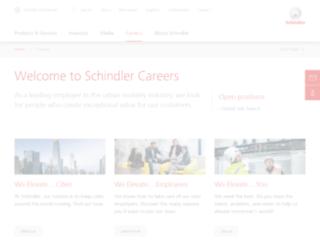 jobs.schindler.com screenshot