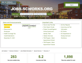 jobs.scworks.org screenshot