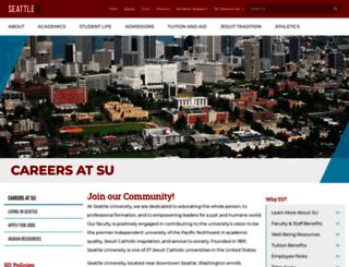 jobs.seattleu.edu screenshot