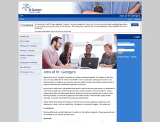jobs.sgul.ac.uk screenshot