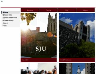 jobs.sju.edu screenshot