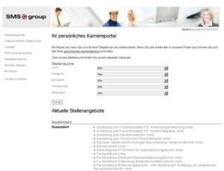 jobs.sms-group.com screenshot