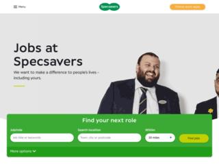 jobs.specsavers.co.uk screenshot
