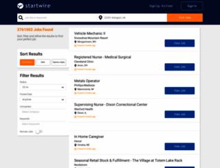 jobs.startwire.com screenshot