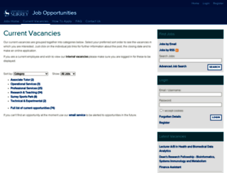 jobs.surrey.ac.uk screenshot