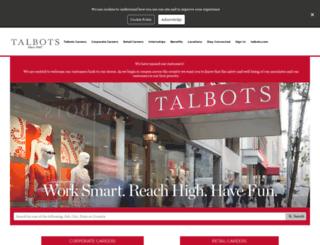 jobs.talbotsinc.com screenshot
