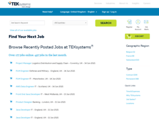 jobs.teksystems.co.uk screenshot