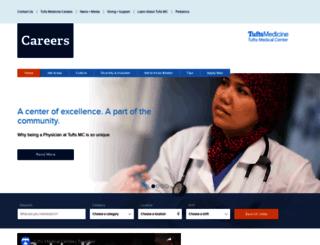 jobs.tuftsmedicalcenter.org screenshot