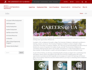 jobs.ua.edu screenshot