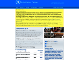 jobs.un.org.pk screenshot