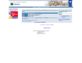 jobs.undp.org.pk screenshot