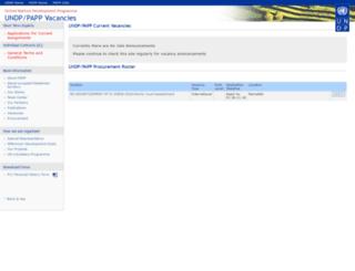jobs.undp.ps screenshot