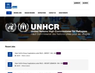 jobs.unhcr-lb.org screenshot