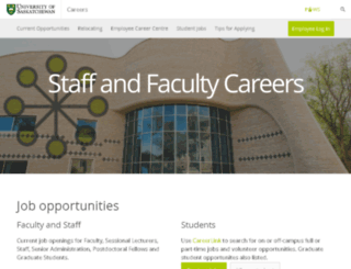 jobs.usask.ca screenshot