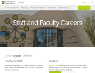 jobs.usask.ca screenshot