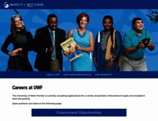 jobs.uwf.edu screenshot