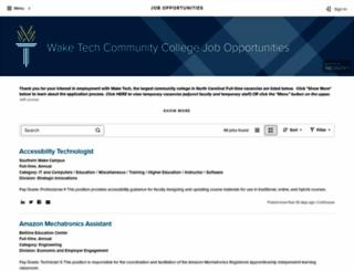 jobs.waketech.edu screenshot