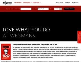 jobs.wegmans.com screenshot