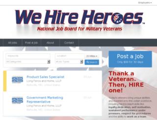 jobs.wehireheroes.com screenshot