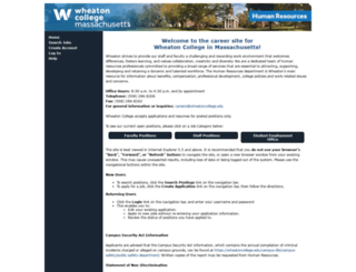 jobs.wheatoncollege.edu screenshot