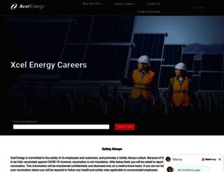 jobs.xcelenergy.com screenshot