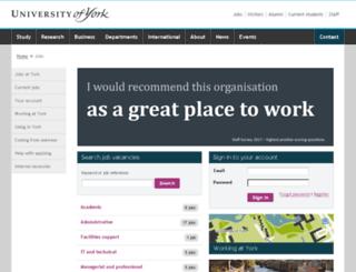jobs.york.ac.uk screenshot