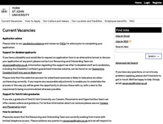 jobs.yorksj.ac.uk screenshot