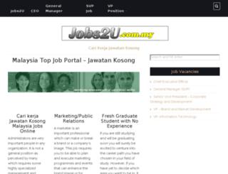 jobs2u.com.my screenshot