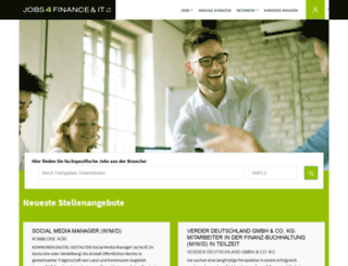 jobs4finance-it.de screenshot