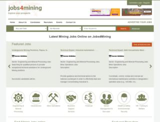 jobs4mining.com screenshot