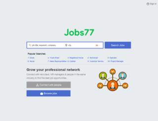 jobs77.ca screenshot