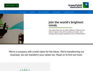 jobsataramco.eu screenshot