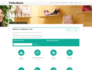 jobsatdebenhams.com screenshot