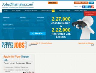 jobsdhamaka.com screenshot