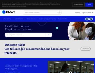 jobsearch.covance.com screenshot