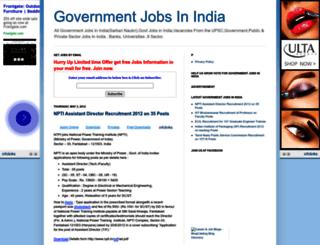 jobsfeed.blogspot.in screenshot