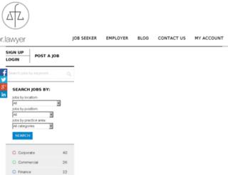 jobsfor.lawyer screenshot
